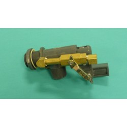 "3/4"" Manual Continuous Flow Valve with Ball Valve"
