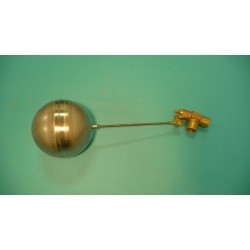 "1"" Brass Valve w/ 1/4"" x 9"" Stainless Steel Float Arm w/ 6"" Round Stainless Float Ball"