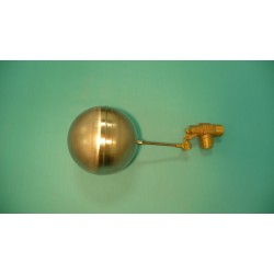 "1"" Brass Valve  w/ 1/4"" x 4"" Stainless Steel Float Arm w/ 6"" Round Stainless Float Ball"