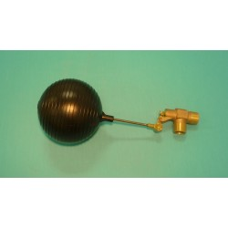 "1"" Brass Valve w/ 1/4"" x 4"" Stainless Steel Float Arm w/ 6"" Round Plastic Float Ball"