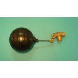 "1"" Brass Valve w/ 1/4"" x 3 1/2"" Stainless Steel Float Arm w/ 6"" Round Plastic Float Ball"