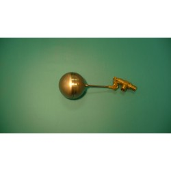 "1/2"" Brass Valve w/ 1/4"" x 4"" Stainless Steel Float Arm w/ 4"" Round Stainless Float Ball"