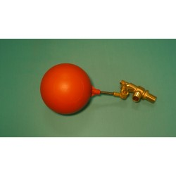 "1/2"" Brass Valve w/ 1/4"" x 2"" Stainless Steel Float Arm w/ 5"" Round Plastic Float Ball"