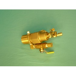"1"" Brass Manual Continuous Flow Valve"