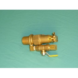 "3/4"" Brass Manual Continuous Flow Valve"